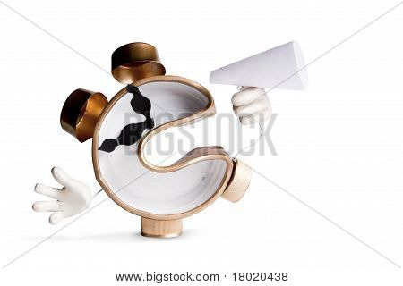 Photo Concept Of Alarm Clock On White