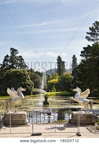 The Lake At Powerscourt Mansion, Ireland