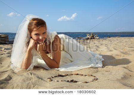 Bride On Sand
