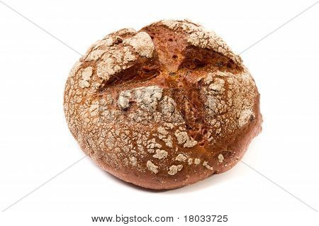 Dark Brown Coarse Grinding Round Bread