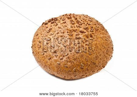 Brown Coarse Grinding Round Bread  With Sunflower Seeds