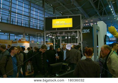 Hannover, Germany - March 5: Stand Of The Ibm On March 5, 2011 In Cebit Computer Expo, Hannover, Ger