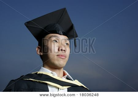 Aspiring asian male graduate