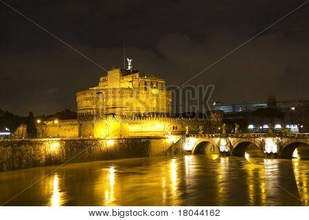 Castel Sant'angelo And The Sant'angelo Bridge