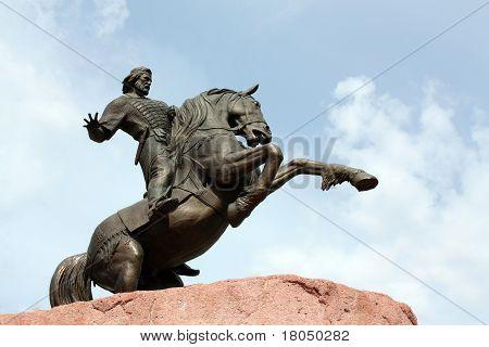 Monument To Evpatii Kolovrat In Ryazan