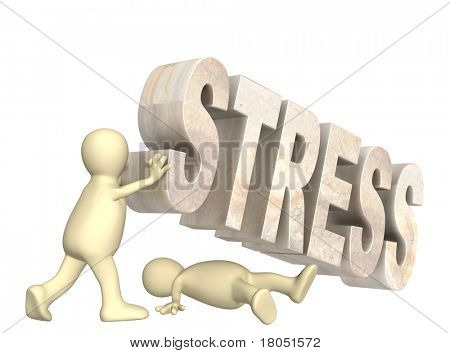 Conceptual image - hostage of the stress