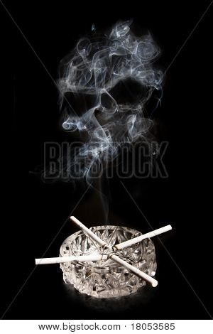Photo Concept Of Smoking Kills With Four Cigarettes