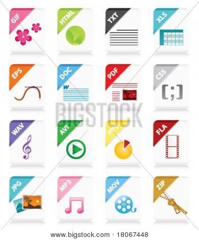 Web document icon. Vector