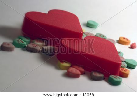 Two Hearts With Candy