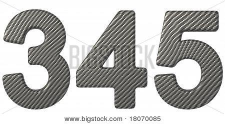 Carbon Fiber Font 3 4 5 Numerals