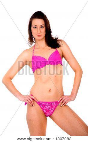 Bikini Mädchen In Rosa