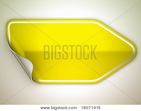Yellow Hamous Sticker Or Label