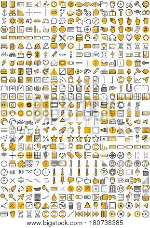 Web Application Icons - Vector file easy to modify