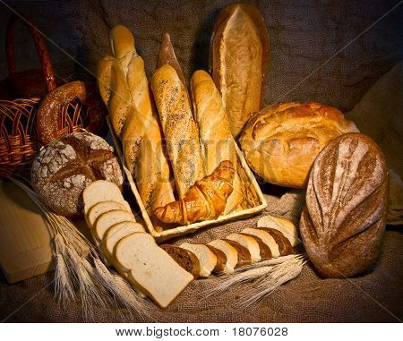 Still Life With Different Kind Of Bread
