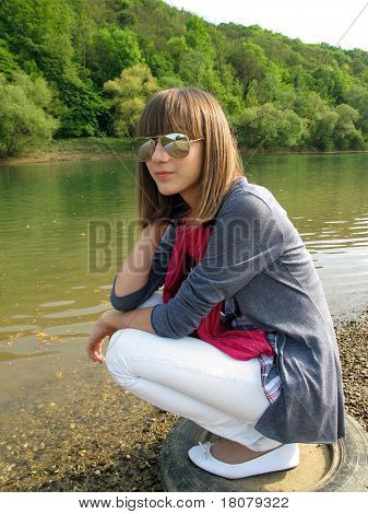 Teenage Girl With Sunglasses