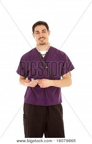 Doctor Standing Purple