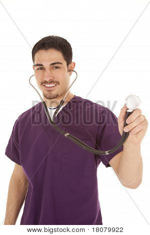 Doctor With Stethoscope Smile