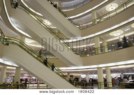 Shopping Center Escalator