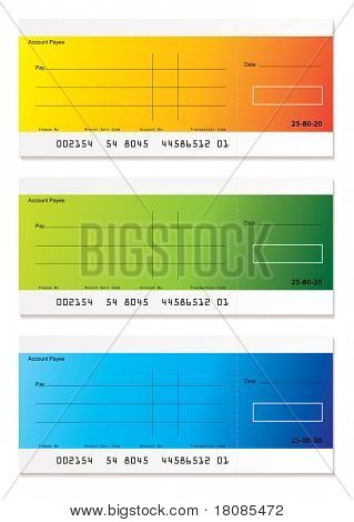 Brightly colored check payment with room to add your own amount