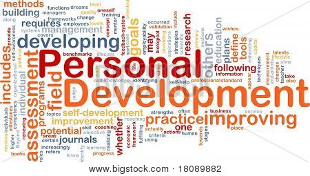 Background concept word cloud illustration of personal development