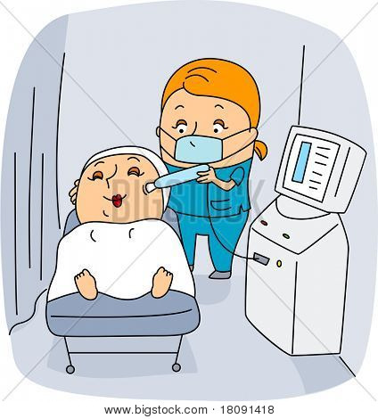 Illustration of an Esthetician at Work
