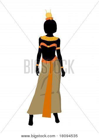Nefertiti Illustration Silhouette