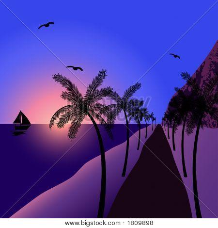 Beautiful Summernight At The Beach