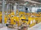stock photo of assemblage  - Modern factory indoor hall the workshop - JPG
