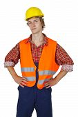 Young Worker With Visibility Vest