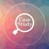 Case Study Icon poster