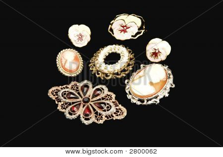 Antique Brooch And Cameo