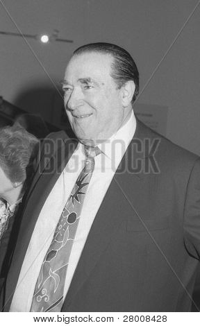 LONDON - APRIL 17: Robert Maxwell, media tycoon and owner of Mirror Group Newspapers, attends a reception on April 17, 1991 in London. He died in November 1991.