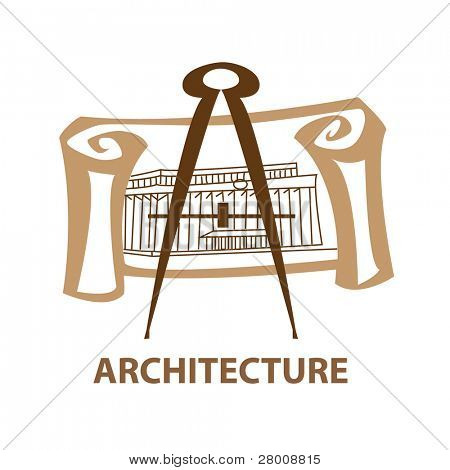 Template icon Art - a symbol of architecture. Vector sign.