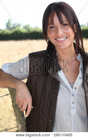 Portrait of a smiling woman farmer