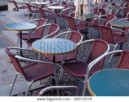 Classic European Street Cafe Copenhagen Denmark