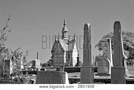 Mausoleum In Black And White