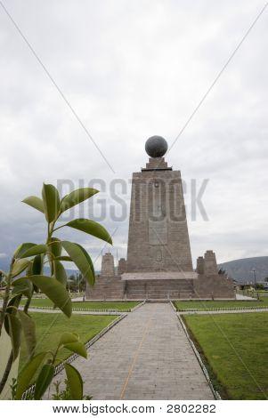 West Equator Line Mitad Del Mundo Middle Of The World Quito Ecuador