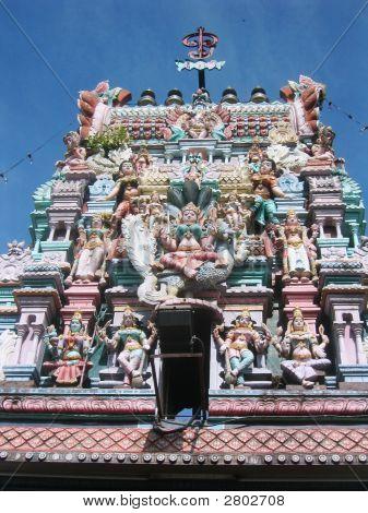 Colorido templo hindú