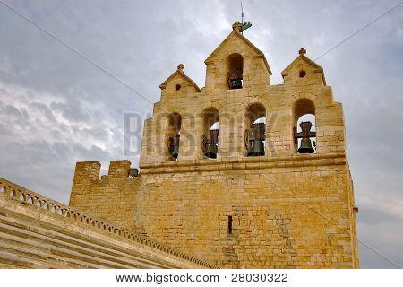 Church belfry in St. Maries de la Mer city