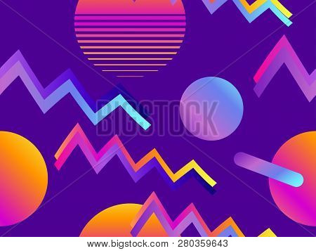 Futurism Seamless Pattern Gradient Shape