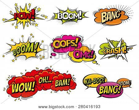 Comic book sound effect speech