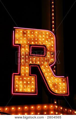 Vintage R Sign
