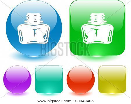 Inkstand. Interface element. Raster illustration.