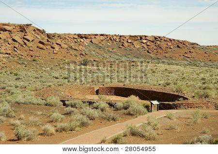 Wupatki Pueblo Ruins ball court