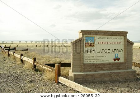 Very Large Array sign