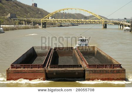 barge on the Monongahela River