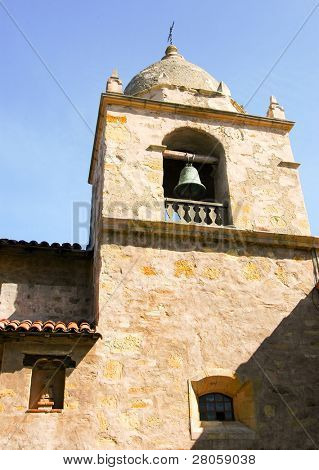 Carmel Mission bell tower