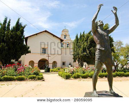 Mission San Juan Bautista statue