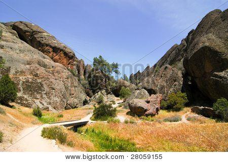trail through Pinnacles National Monument