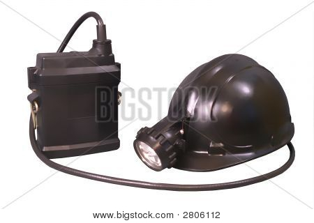 Storage Torch And Helmet For Miner And Lifeguards